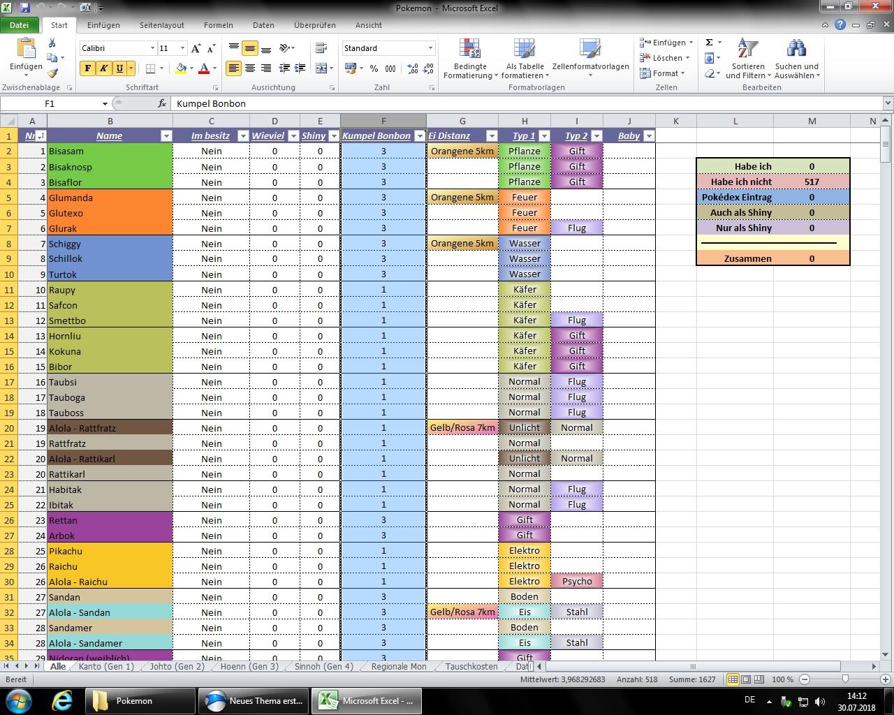 pokedex checklist excel - Ataum berglauf-verband com